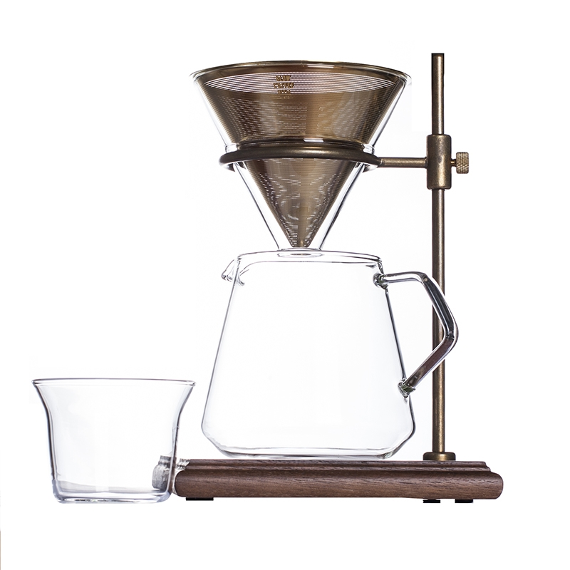 KINTO SLOW COFFEE STYLE BREWER STAND SET 4 CUPS, GOLD