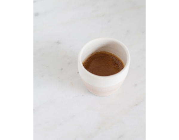 Handcrafted pink espresso mug ,Gardelli