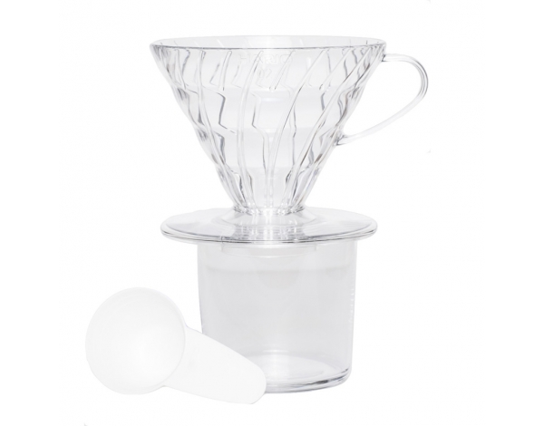 Brewer V60 02 - Clear Plastic, Hario