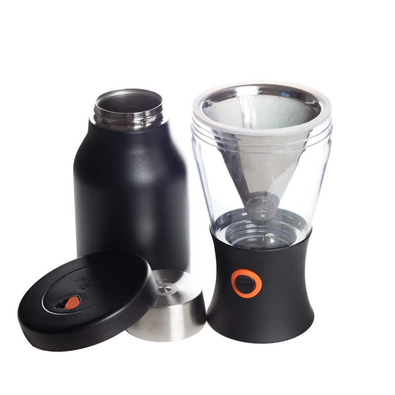 ASOBU - COLD BREW INSULATED PORTABLE BREWER - STAINLESS STEEL BLACK